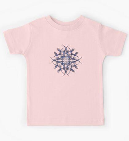 Barbed Blue - Fractal Art design Kids Tee