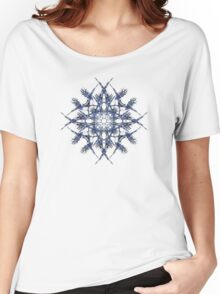 Barbed Blue - Fractal Art design Women's Relaxed Fit T-Shirt