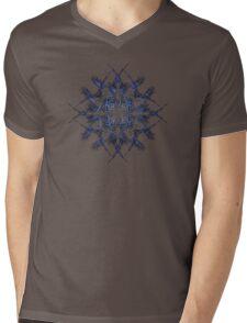 Barbed Blue - Fractal Art design Mens V-Neck T-Shirt