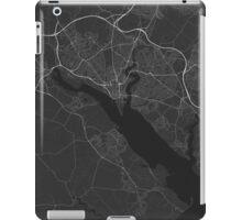 Southampton, England Map. (White on black) iPad Case/Skin