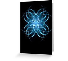 Tribal Ice - Fractal Art Design Greeting Card