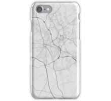 Stoke, England Map. (Black on white) iPhone Case/Skin