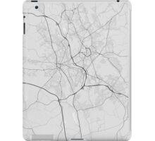 Stoke, England Map. (Black on white) iPad Case/Skin
