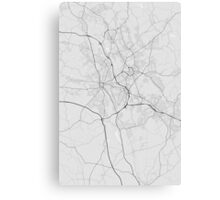 Stoke, England Map. (Black on white) Canvas Print
