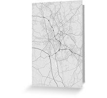 Stoke, England Map. (Black on white) Greeting Card