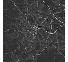 Sheffield, England Map. (White on black) Photographic Print
