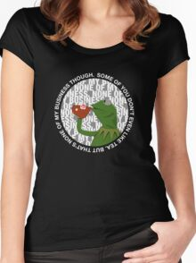 """That's None Of My Business Though"" Women's Fitted Scoop T-Shirt"