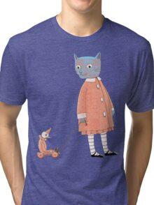 Cat Child Takes a Walk Tri-blend T-Shirt