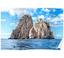 The faraglioni of Capri Island, Italy Poster