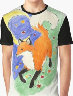Fox and Moon Graphic T-Shirt
