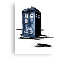 Bad Wolf Tardis Canvas Print