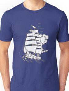 Sailing Ship  Flash Tattoo Unisex T-Shirt