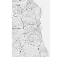 Sunderland, England Map. (Black on white) Photographic Print