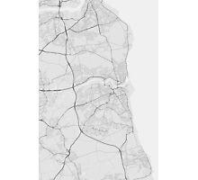 Sunderland, England Map. (Black on white) Photographic Print