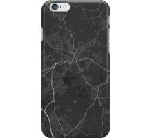Wigan, England Map. (White on black) iPhone Case/Skin
