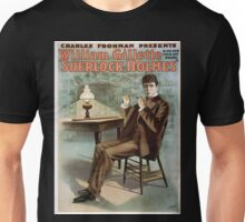 Performing Arts Posters Charles Frohman presents William Gillette in his new four act drama Sherlock Holmes 1344 Unisex T-Shirt