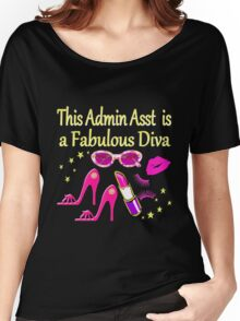 PINK THIS ADMIN ASSISTANT IS FABULOUS Women's Relaxed Fit T-Shirt