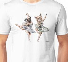 Hipster Ballerinas - Dog Cat Dancers (White) Unisex T-Shirt