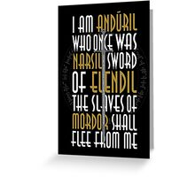 Sword of the King Greeting Card
