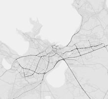 Tallinn, Estonia Map. (Black on white) by Graphical-Maps