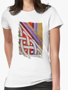 Celtic Knot with Autumn Colors Womens Fitted T-Shirt