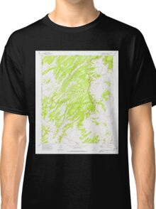 USGS TOPO Map Arizona AZ Big Willow Spring Canyon 314132 1972 24000 Classic T-Shirt