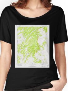 USGS TOPO Map Arizona AZ Big Willow Spring Canyon 314132 1972 24000 Women's Relaxed Fit T-Shirt