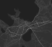 Tallinn, Estonia Map. (White on black) by Graphical-Maps