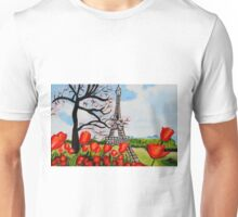 Tulips over Paris Unisex T-Shirt