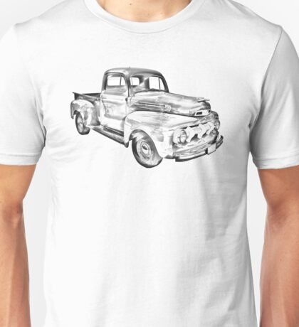 1951 Ford F-1 Pickup Truck Illustration  Unisex T-Shirt