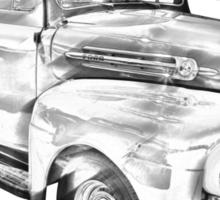 1951 Ford F-1 Pickup Truck Illustration  Sticker