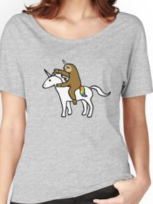 Slothicorn Riding Unicorn Women's Relaxed Fit T-Shirt