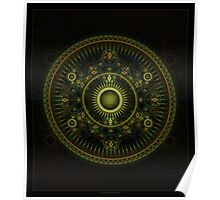 Metatron's Magick Wheel ~ Sacred Geometry Poster