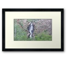 Wyoming Waterfall Framed Print