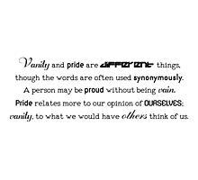 Vanity and Pride Photographic Print