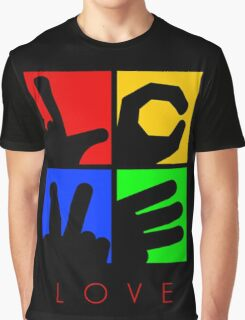 Love Hand Sign Graphic T-Shirt