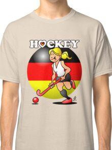 Hockey lady of the German field hockey team Classic T-Shirt