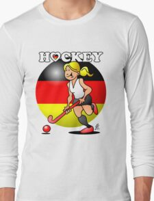 Hockey lady of the German field hockey team Long Sleeve T-Shirt