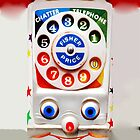 Classic Vintage Funny cute Retro Toys dial Phone by Johnny Sunardi