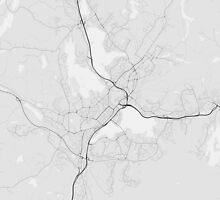 Jyväskylä, Finland Map. (Black on white) by Graphical-Maps
