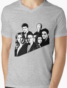 A BTVS motif Mens V-Neck T-Shirt