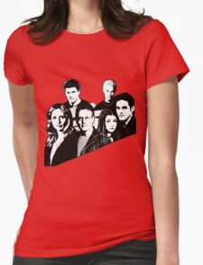 A BTVS motif Womens Fitted T-Shirt
