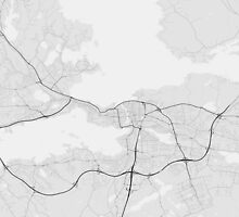 Tampere, Finland Map. (Black on white) by Graphical-Maps