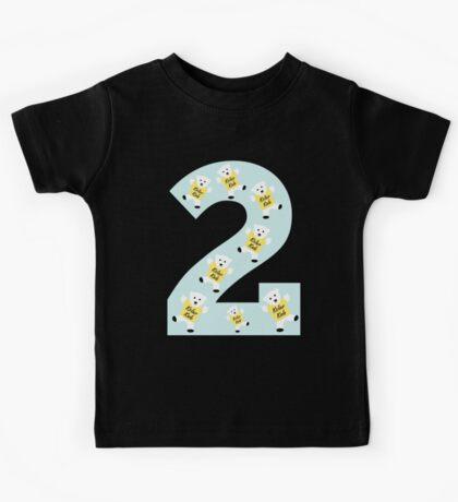 "Kolarkub number ""2"" in blue  Kids Tee"