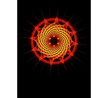 Merkaba Spiral Mandala Red   ( Fractal Geometry ) Photographic Print