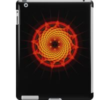 Merkaba Spiral Mandala Red   ( Fractal Geometry ) iPad Case/Skin