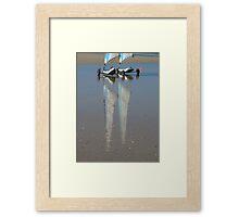 Reflets sur le sable mouillé Framed Print