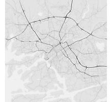 Turku, Finland Map. (Black on white) Photographic Print