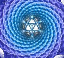 Merkaba Spiral Mandala Blue  ( Fractal Geometry ) Sticker