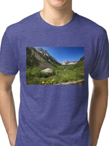 Maroon Bells in Summer Tri-blend T-Shirt